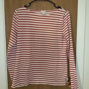 J. Crew long sleeve stripe shirt